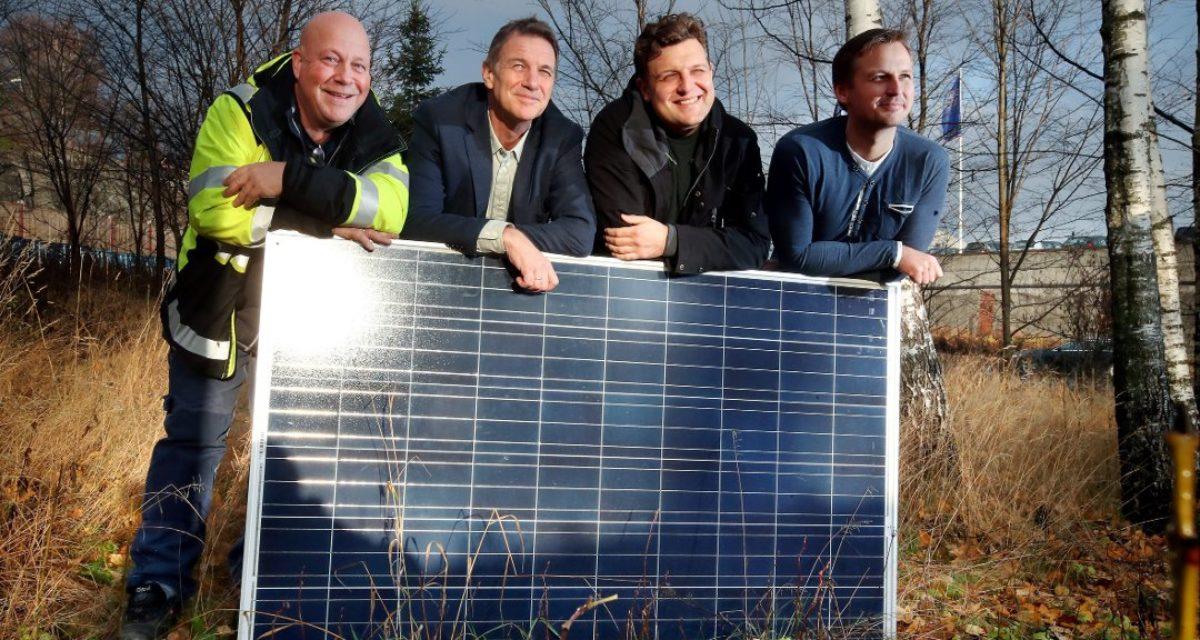 De har levert Norges første bilvask med solvarmt vann